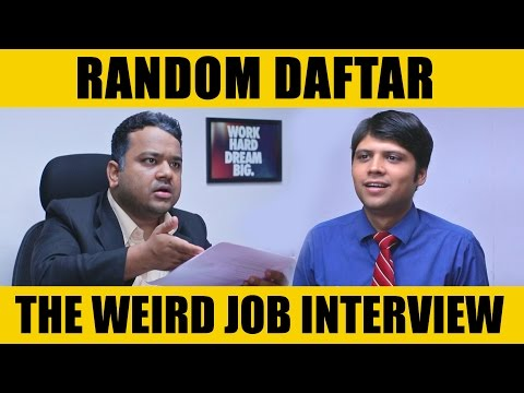 Random Daftar -The Weird Job Interview  #LaughterGames