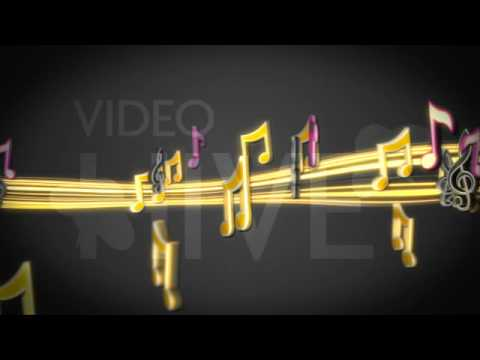 Cool Music Notes loop animation full hd