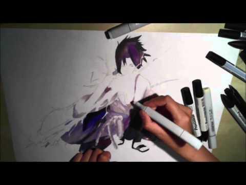 Sasuke Uchiha Speed Coloring Copic Promarkers