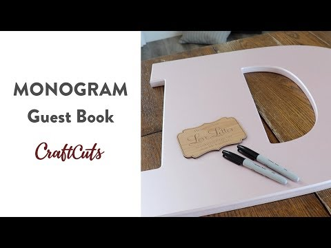 MONOGRAM GUEST BOOK - Product Video | Craftcuts.com