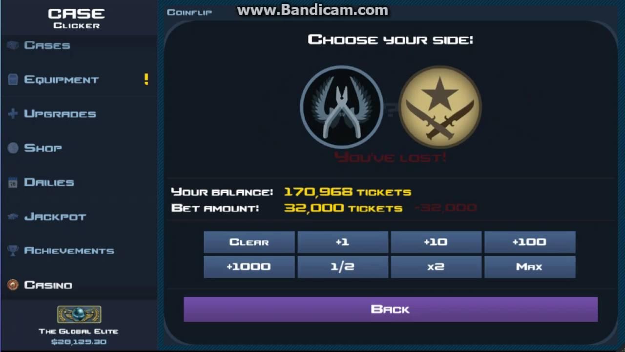 Case Clicker Winning 300K - Casino - Coin Flip