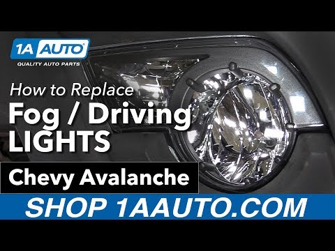 How to Replace Install Fog / Driving  Lights 2003-06 Chevy Avalanche Buy Quality Parts at 1AAuto.com