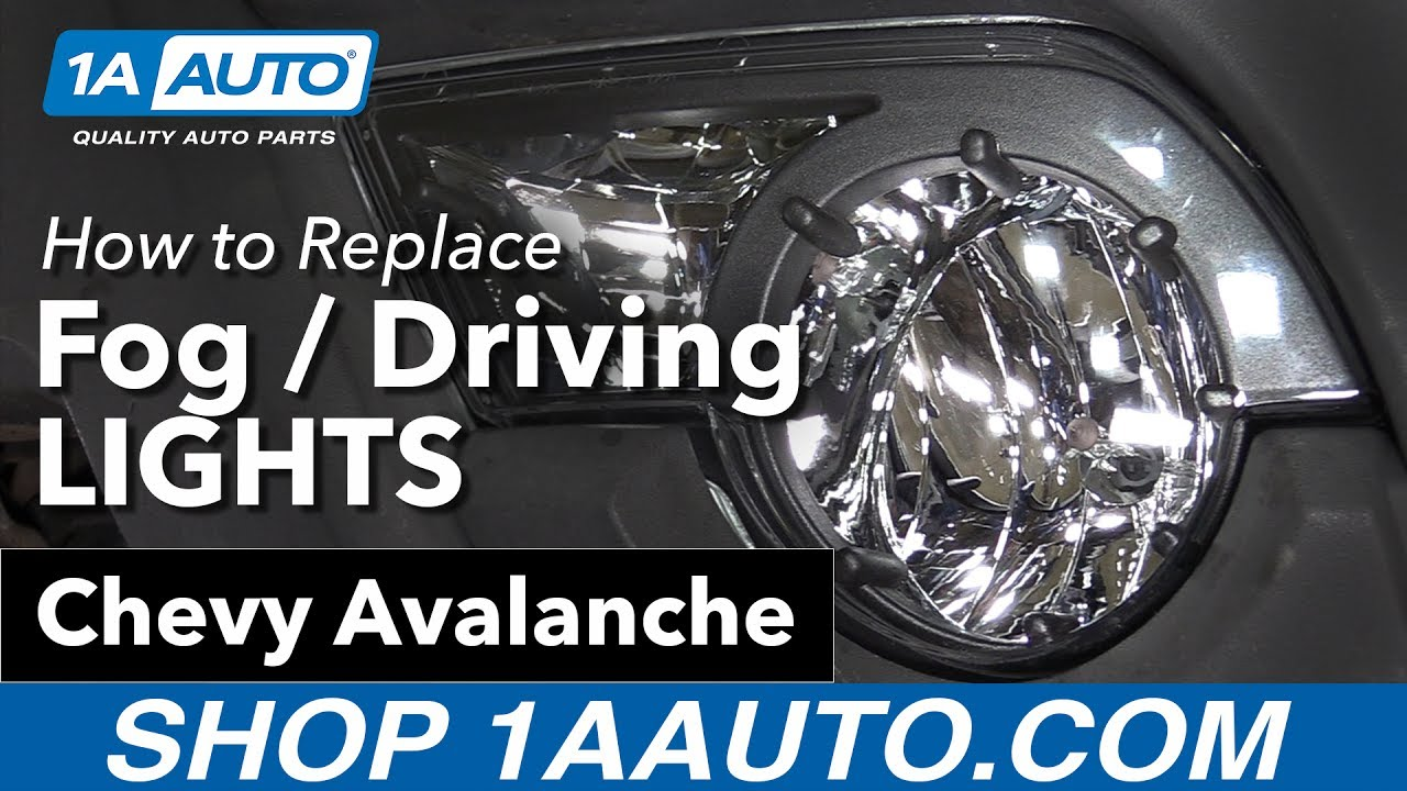 how to replace install fog driving lights 2003 06 chevy avalanche buy quality parts at 1aauto com [ 1280 x 720 Pixel ]