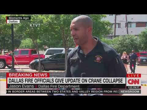 Crane collapses in Dallas, killing at least one and injuring