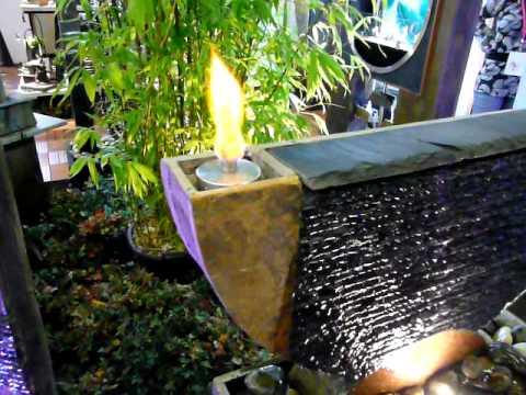 Kombi Brunnen und Kamin OLYMPE von Cactose - YouTube