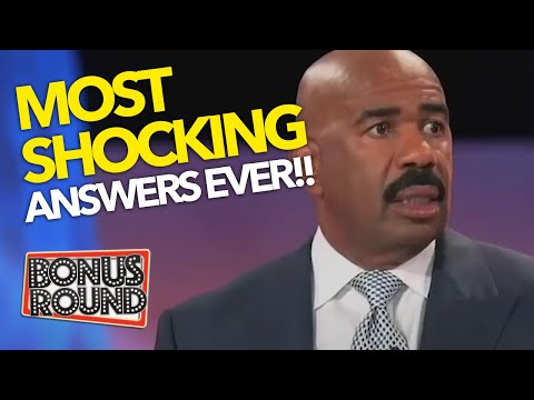 MOST SHOCKING!! 15 MINUTES OF Family Feud SHOCKING ANSWERS