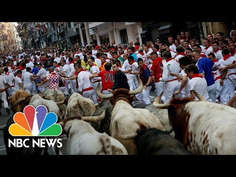 Three Gored During First Running Of The Bulls Of 2017   NBC News