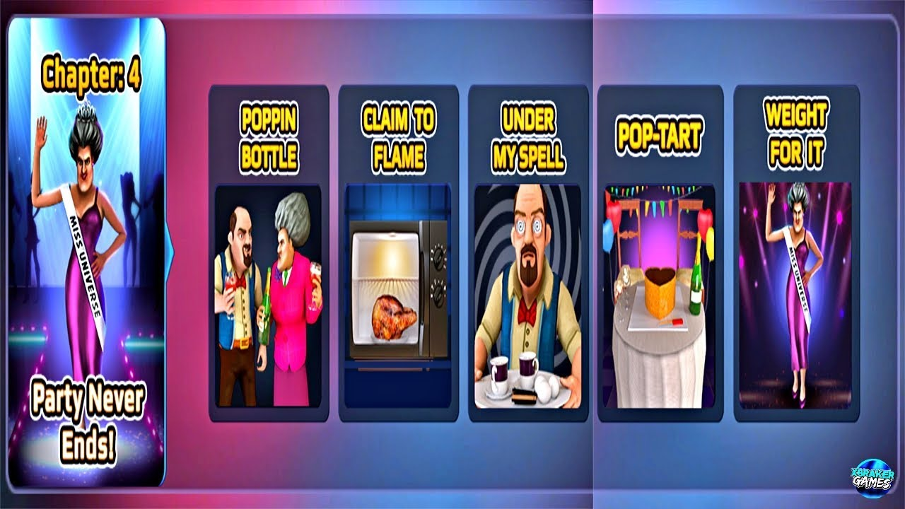 Download Scary Teacher 3D - | Chapter 4 Party Never Ends | All Levels Gameplay ( ios,android )