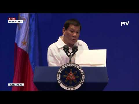President Rodrigo Duterte graces the 2nd Philippine Construction Congress at the PICC in Pasay City