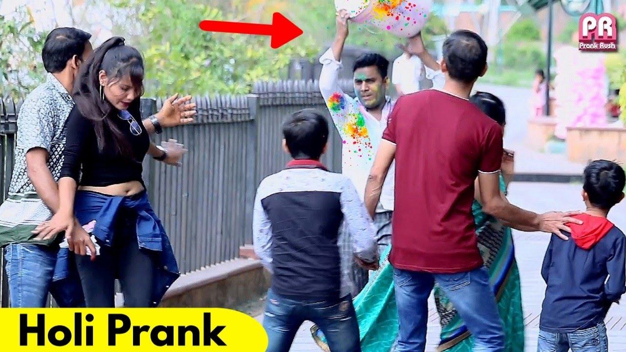 Holi Prank in Public | Prank Rush | Pranks in India