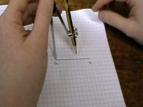 To Construct The Perpendicular Bisector Of A Line Segment Youtube