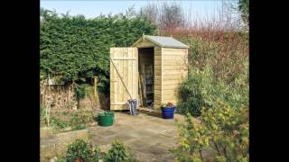 Small Wooden Garden Shed 4ft x 3ft base - garden storage