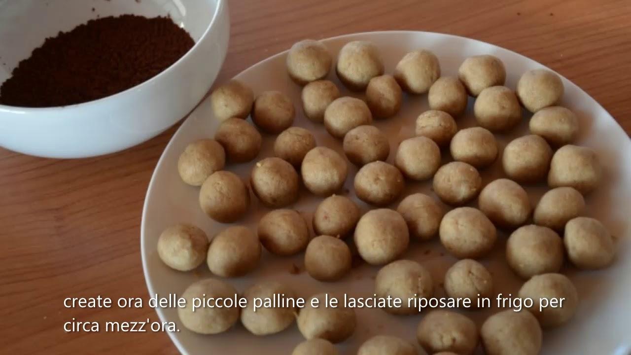 Mini tartufi al caffè su www.incucinacondaiana.it - YouTube