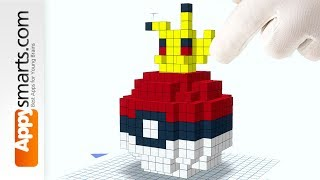 Surprise Box Pokeball (Minecraft Style) -pixel art puzzle for Preschool Kids