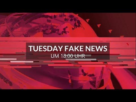 TUESDAY FAKE NEWS ua. mit BANKÜBERFALL IN WIEN und BUNDESPRÄSIDENT BETRUNKEN VOR BORDELL AUFGEFUNDEN