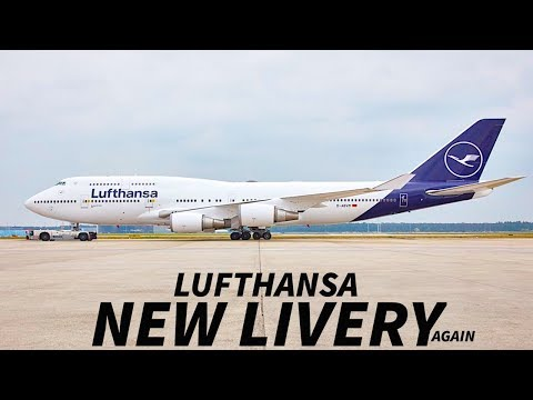 LUFTHANSA Reveal ADJUSTED NEW LIVERY