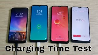 Redmi 8A|Redmi 8 vs Realme 5 vs Infinix Hot 8 : 5000mAh Battery Charging Time Test