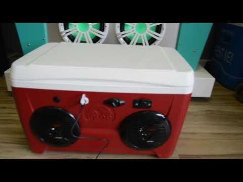 48qt Cooler Radio Ice Chest Stereo 150 Watt Waterproof Speakers