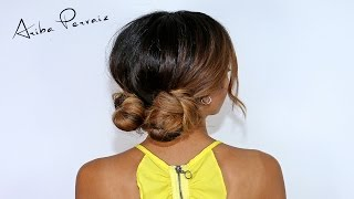 Low Double Buns - Hair Tutorial | ARIBA PERVAIZ