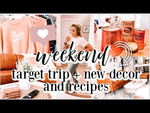 WEEKEND IN MY LIFE | Target Trip & Haul + New Decor And Deep Clean