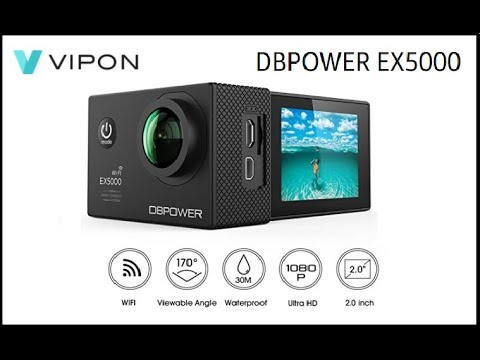 dbpower ex5000 action camera wifi 1080p hd sport camera. Black Bedroom Furniture Sets. Home Design Ideas