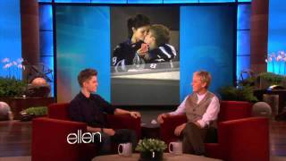 While he was here, , justin bieber told ellen about his girlfriend, selena gomez, and why he's been photographed all over the place kissing her! answer may actually be too cute. watch it ...