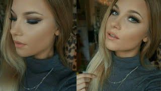 Blue and Grey Smokey Eye| Makeup Tutorial Thumbnail