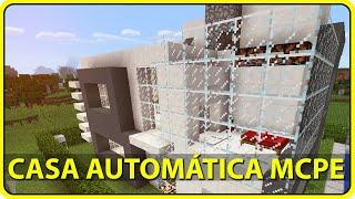 Minecraft PE 0.14.0 : CASA AUTOMÁTICA COM PORTA ULTRA SECRETA! (Casa c/ Redstone)