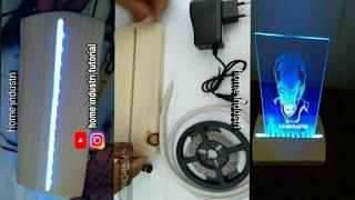 Cara Merakit Lu LED Strip Untuk Dudukan Lu Hias Akrilik Kaca Acrylic glas LED L Stand
