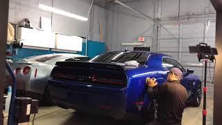 2018 Dodge Challenger HellCat Widebody in IndiGo Blue completely en...