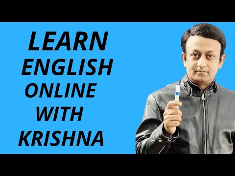 LEARN ENGLISH ONLINE WITH KRISHNA - WHAT YOU CAN LEARN