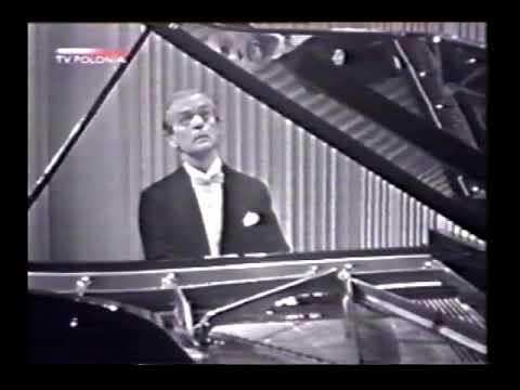 Witold Małcużyński plays Chopin Ballade # 2 op 38 Warsaw 1964