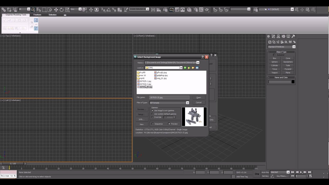 Background image 3ds max viewport - Tutorial Viewport Backgrounds