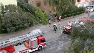 požár Brno Merhautova 18.9.2014