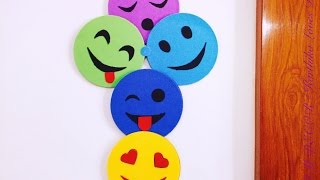 DIY - Smiley Room Decor ( Super easy ) Recycle your old CDs | Karthika Loves DIY