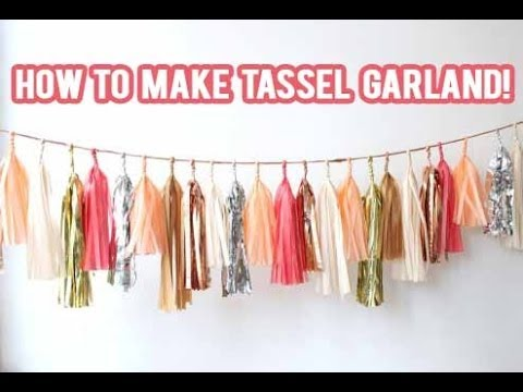 Diy How To Make A Tassel Garland Banner Nicolematthews