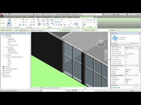 Revit Architecture 2013 Tutorial | Curtain Walls