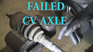 Difference Between Bad and Good CV Axle
