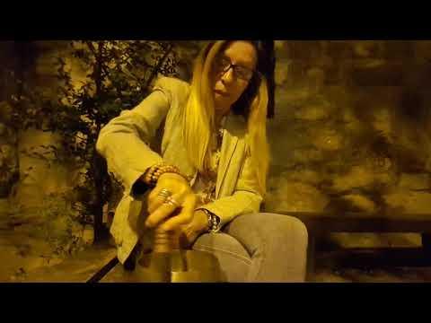 MIRIAM PLAYING TIBETAN SINGING BOWLS  IN JERUSALEM ISRAEL