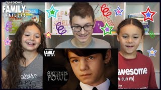 D-THREE KIDS REACT to ARTEMIS FOWL Teaser Trailer