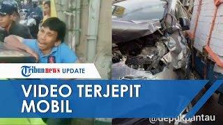 Viral Video Pria Mengaduh Saat Terjepit Mobil Ertiga Ternyata Hendak Tolong Korban Kecelakaan