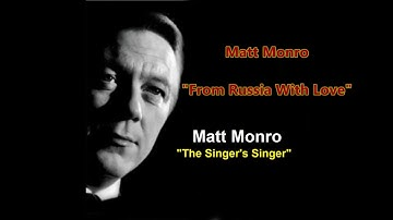 Matt Monro  - 'From Russia With Love'  (with lyrics)
