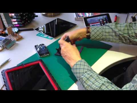 Plinth tablet stand video