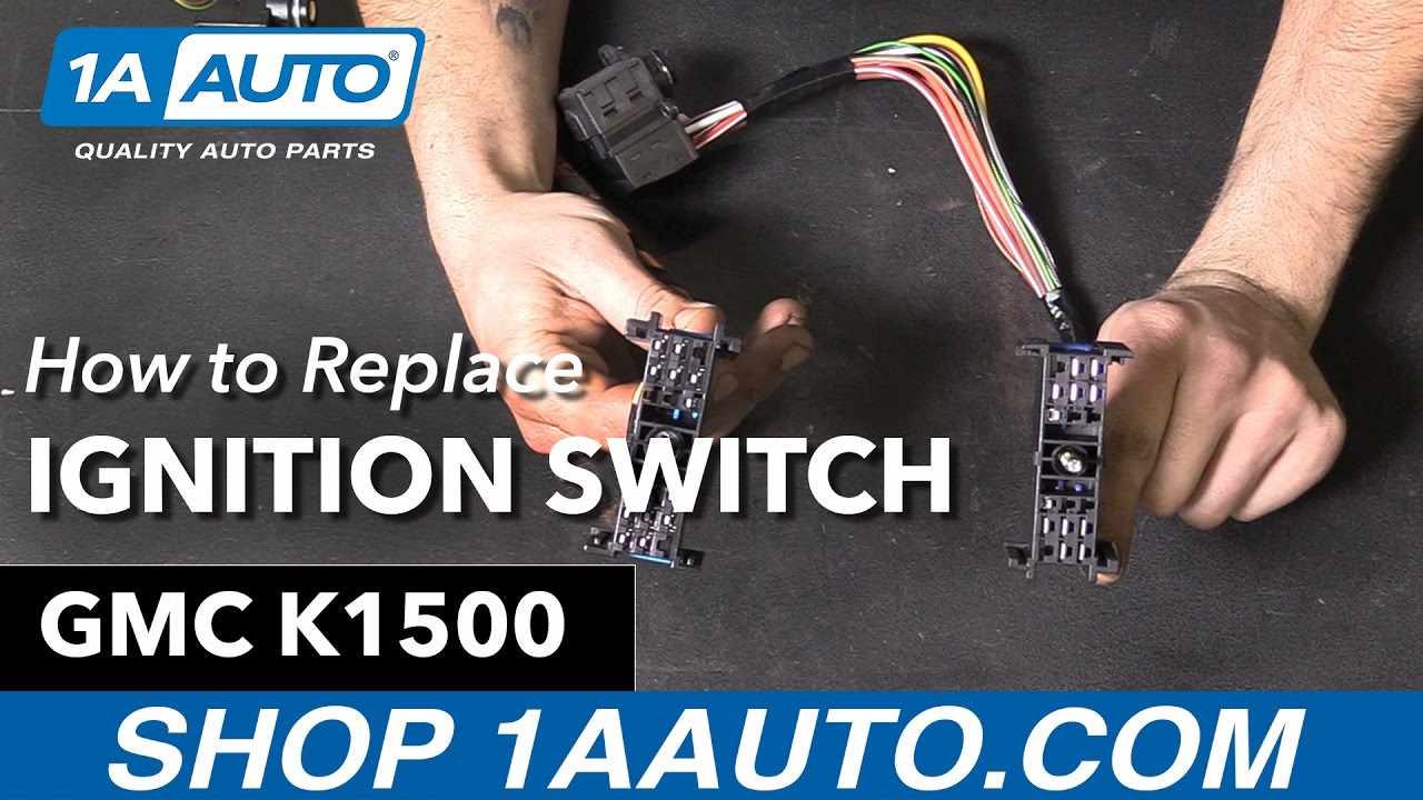 How To Replace Install Ignition Starter Switch 1995 96 Gmc Sierra 1993 Chevy Tahoe Wiring Diagram Buy Auto Parts At 1aautocom