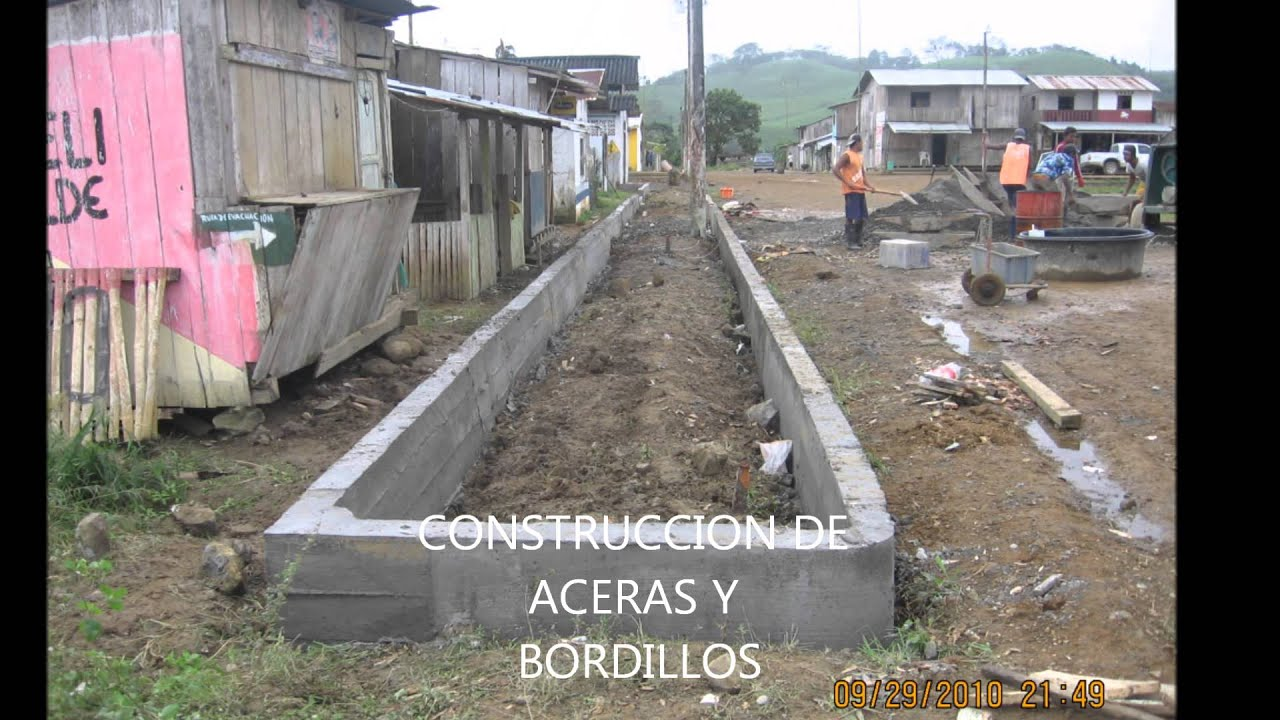 Construccion de aceras y bordillos youtube for Bordillos de plastico para jardin