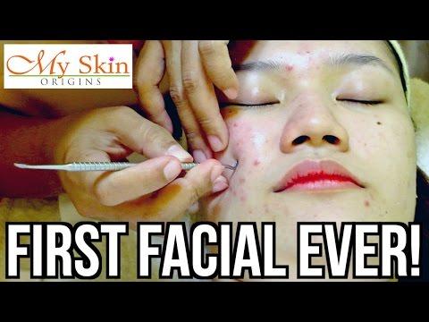 FIRST ACNE FACIAL EVER! ♡ MY SKIN ORIGINS | makeupbykarlamisa