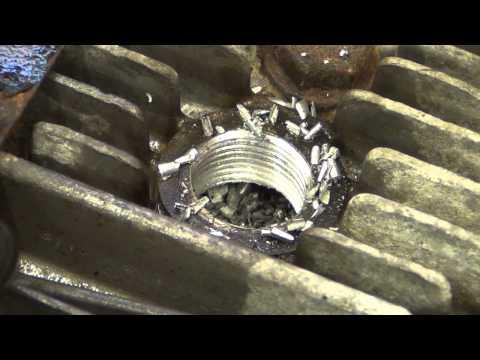 Tecumseh spark plug thread repair on 5.5HP LH195 engine
