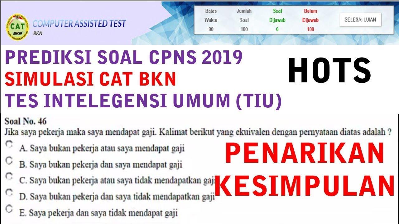 Prediksi Soal Cpns Hots 2019 Penarikan Kesimpulan Cat Bkn 2017
