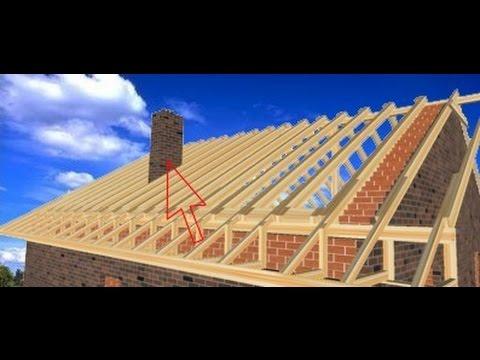 Как делать крышу дома двухскатную видео