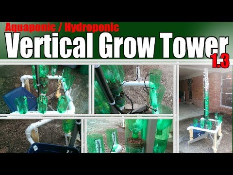 Aquaponic Hydroponic Vertical Grow Tower 1 3 Re Purposed